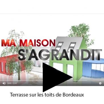 Ma maison s'agrandit Terrasse sur les toits de Bordeaux