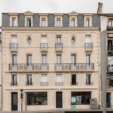 Construction d'un immeuble neuf à Bordeaux type 19eme