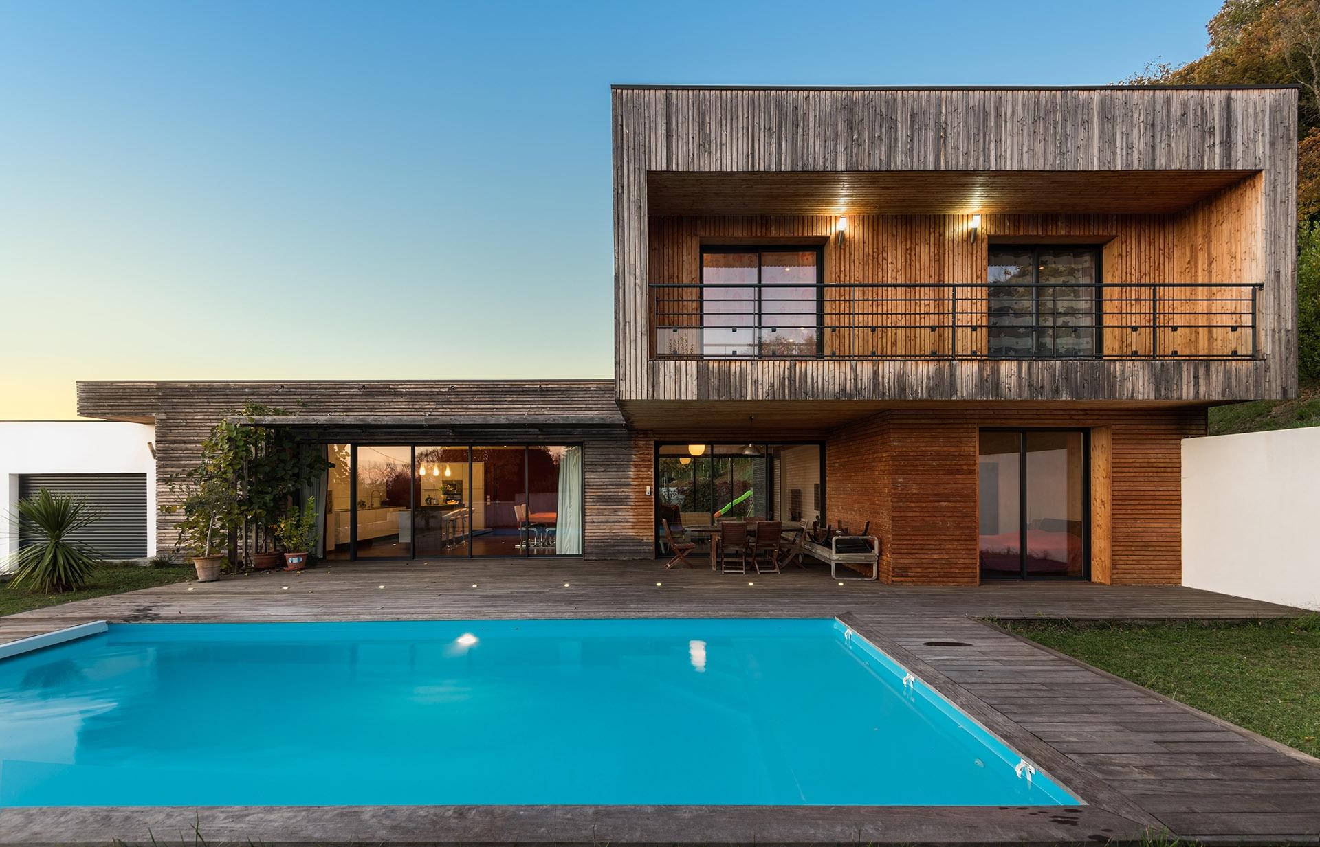maison architecte ossature bois cologique. Black Bedroom Furniture Sets. Home Design Ideas